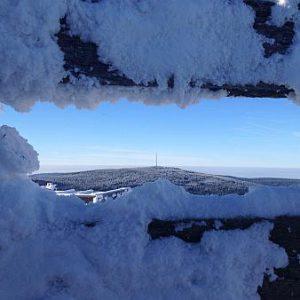 12 Gipfeltour Fichtelgebirge im Winter